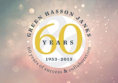 Green Hasson Janks 60th Anniversary