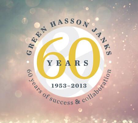 Green Hasson Janks Anniversary Identity
