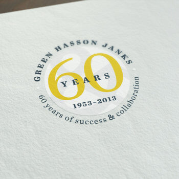 Green Hasson Janks 60th Anniversary
