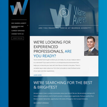 Warren Averett Experienced Professionals Microsite