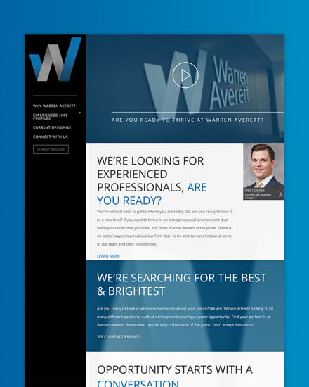 Warren Averett experienced professionals microsite feature image