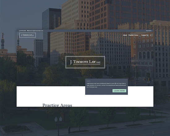 J Timmons Law website feature image