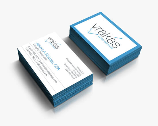 Vrakas logo business cards feature image