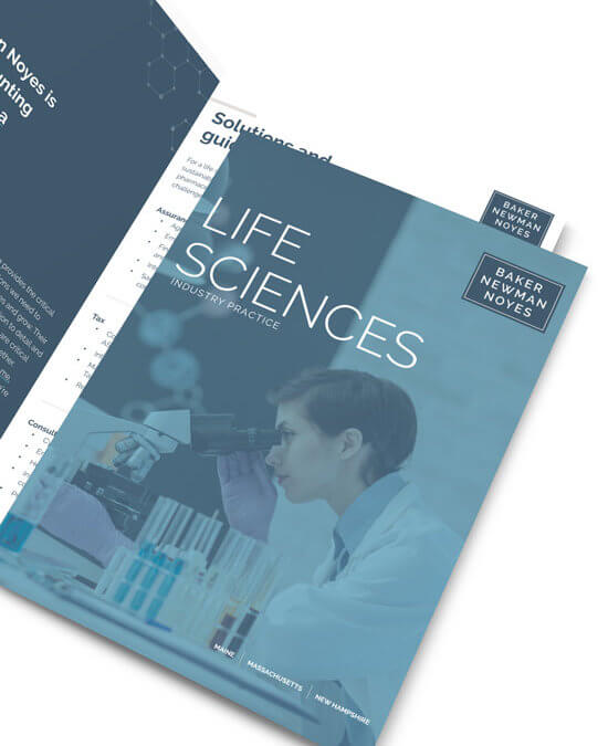 Baker Newman NoyesLife Sciences Brochure