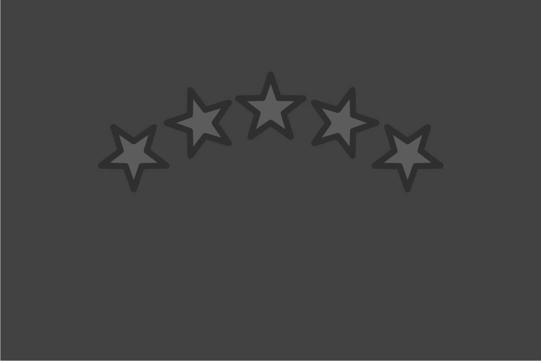 Feature image for reputation marketing article, include 5 stars in an arch
