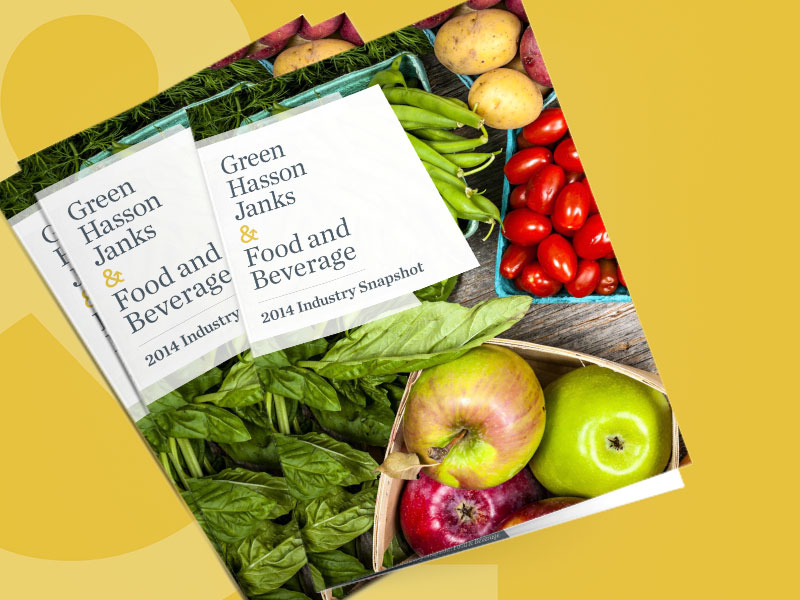 Green Hasson Janks –Food & Beverage White Paper
