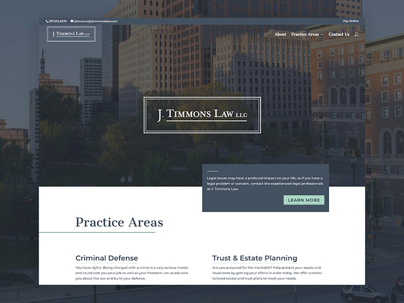 J Timmons Law –Website